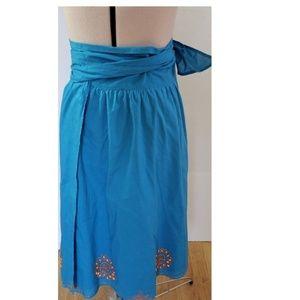 BCBGMaxAzria Skirts - Bcbgmaxazria Full Wrap Skirt Beaded Details Small